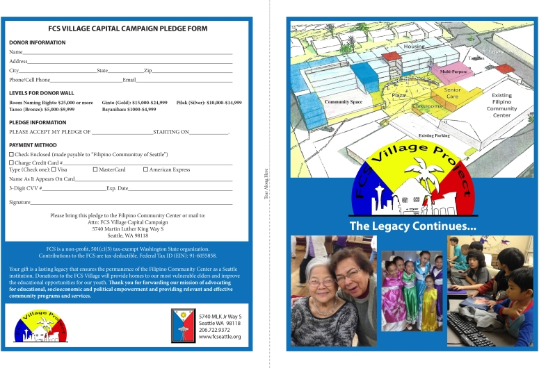FCS Village Brochure and Pledge Form FINAL-1