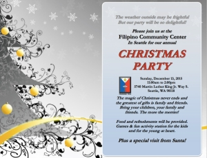FCS Christmas Party Flyer